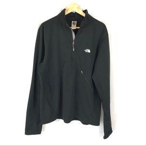 The north face pullover half zip black sweatshirt